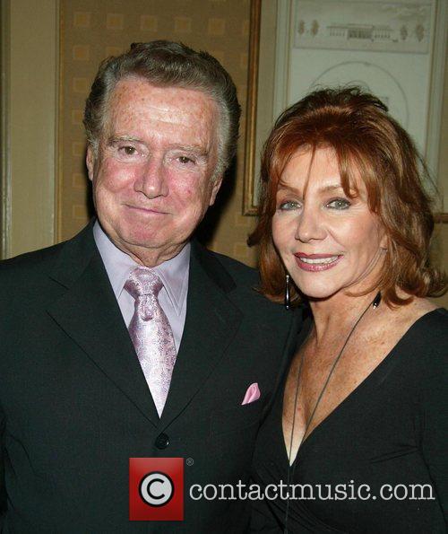 Regis Philbin & Joy Philpin  backstage after...