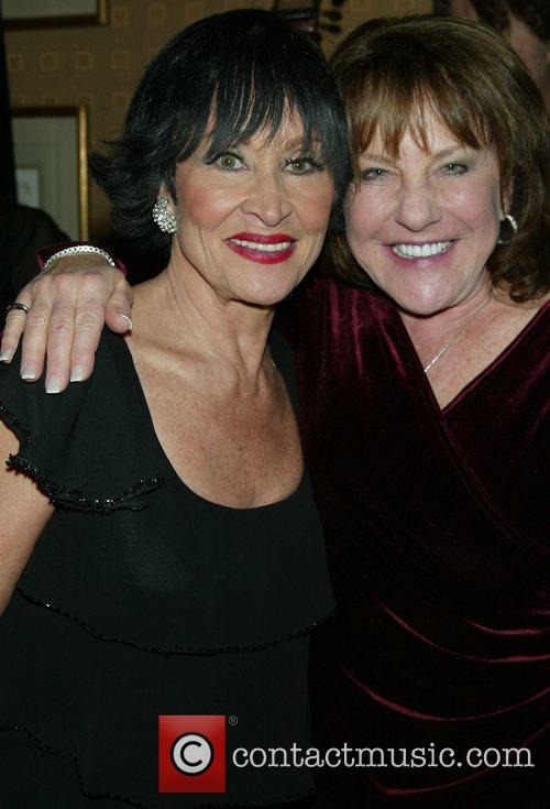 Chita Rivera & Yankees announcer Jan backstage after...