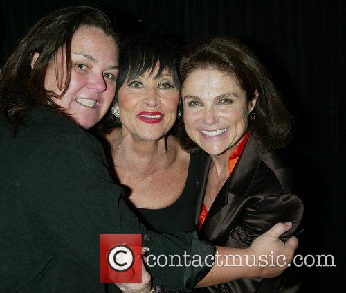Rosie O'Donnell, Chita Rivera and Tovah Feldshuh backstage...