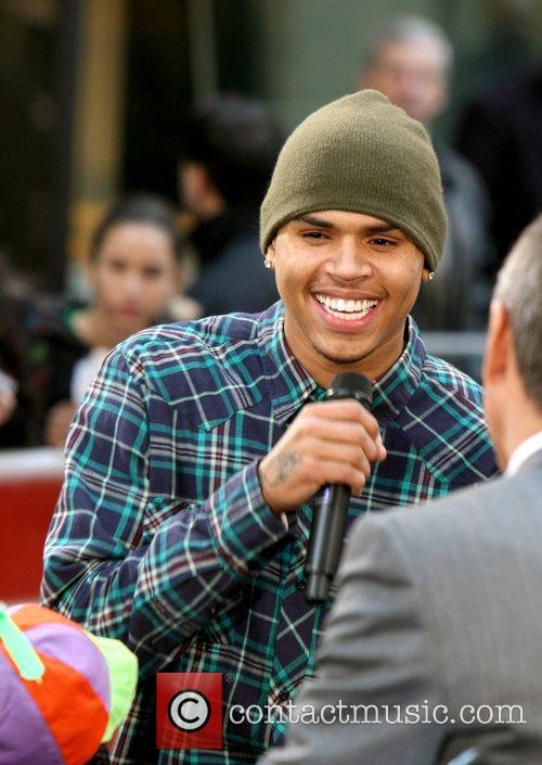 Chris Brown  performs on NBC's 'The Today...