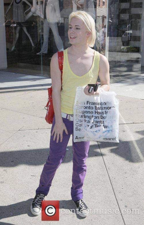 Chris Crocker shopping on Robertson Blvd Los Angeles,...