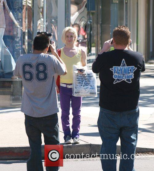 Chris Crocker poses for photographers while shopping on...