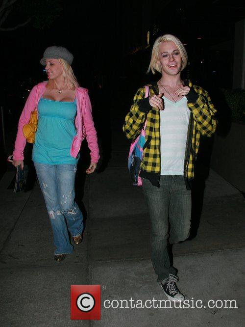 Chris Crocker leaving the Newsroom restaurant with friends