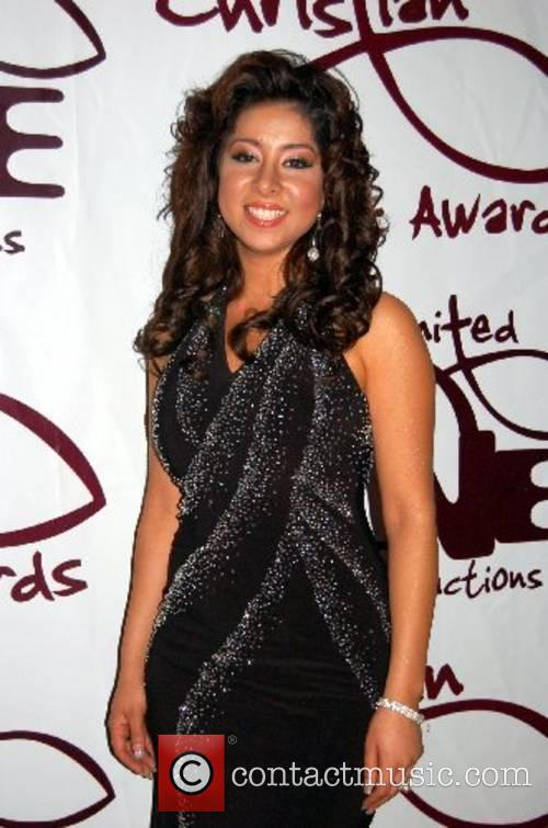 Marylin Fernandez backstage at the Christian Music Awards...