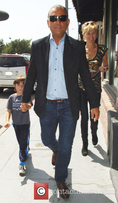 Christian Audigier out and about with his family...
