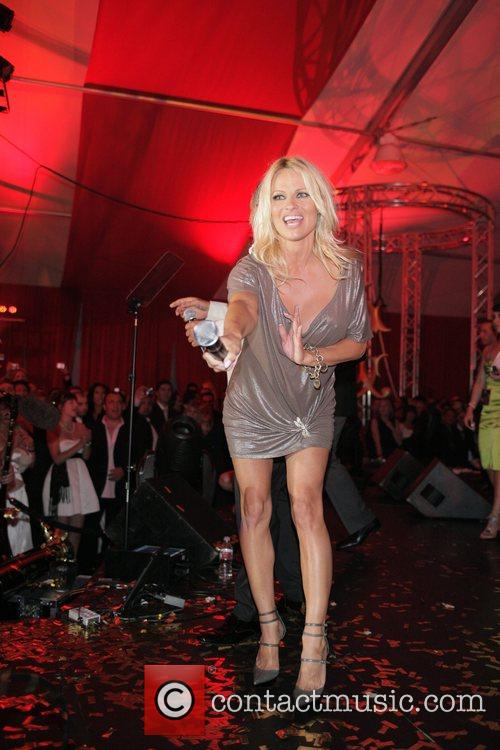 Pamela Anderson Christian Audigier 50th birthday party at...
