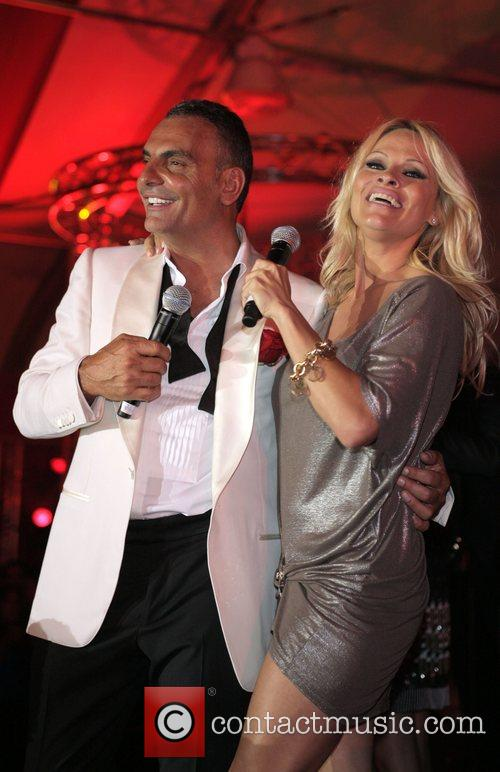 Christian Audigier and Pamela Anderson Christian Audigier 50th...
