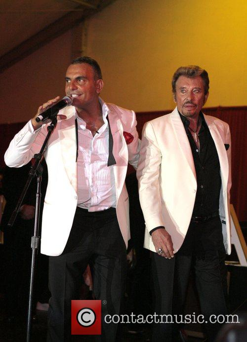 Christian Audigier and Johnny Halliday Christian Audigier 50th...