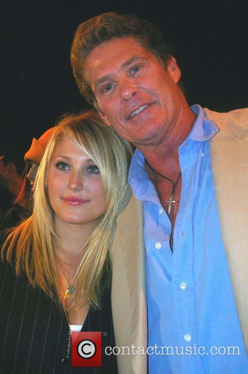 David Hasselhoff and daughter Hayley Hasselhoff Mercedes-Benz Fashion...