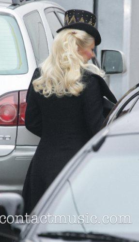 Christina Aguilera in costume on a photo shoot...