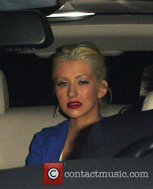 Christina Aguilera  leave the launch party of...