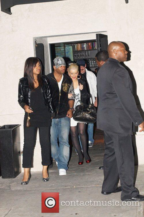 Christina Aguilera leaving Villa Nightclub in Hollywood
