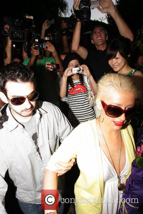 Christina Aguilera, Jordan and Jordan Bratman 7