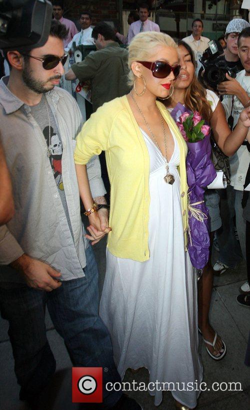 Christina Aguilera, Jordan and Jordan Bratman 6