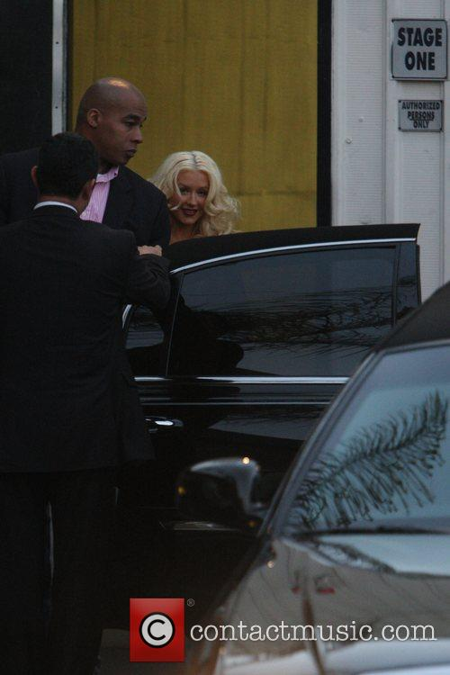 Christina Aguilera leaving the Photostudios after being photographed...