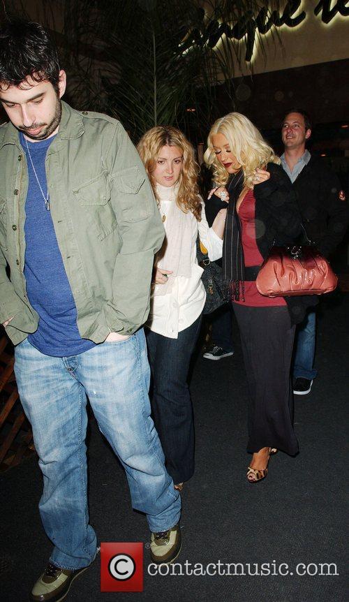 Christina Aguilera and Jordan Bratman leaving Mamasoko sushi...