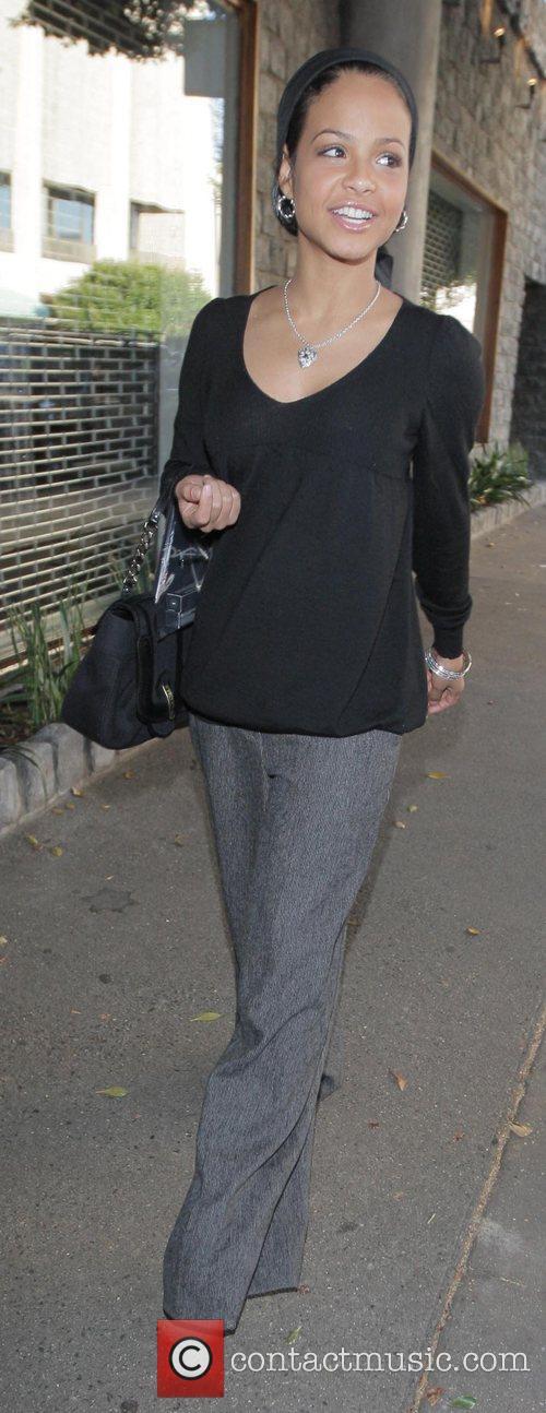 Christina Milian and her mother go Christmas shopping...