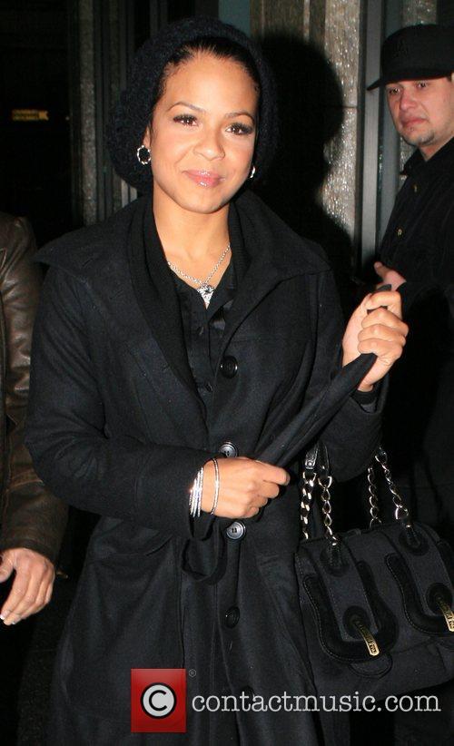Christina Milian and her mother, Carmen, leave Katsuya...