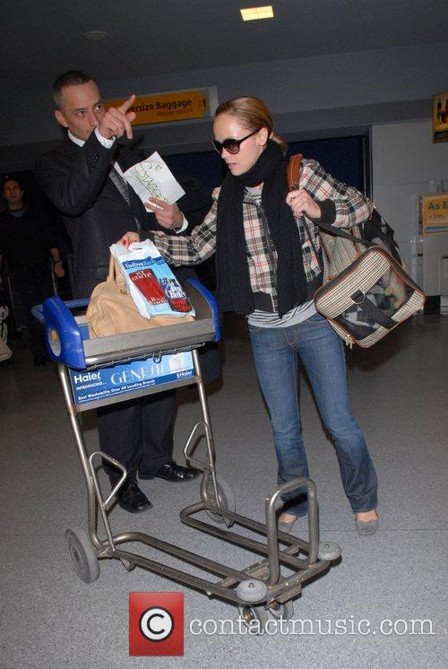 Christina Ricci and her dog, Ramon, arrive from...