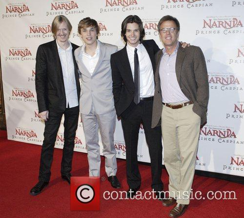 Andrew Adamson, William Moseley, Ben Barnes and Mark Johnson 1