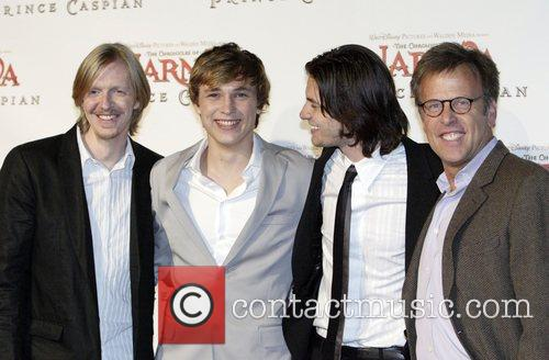 Andrew Adamson, William Moseley, Ben Barnes and Mark Johnson 3