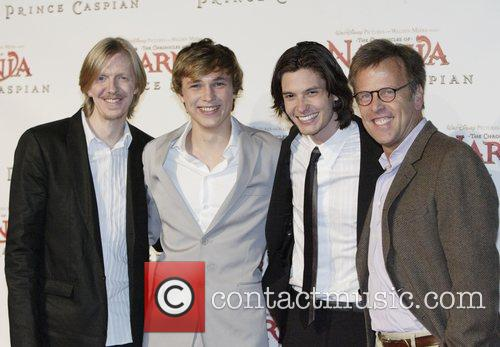 Andrew Adamson, William Moseley, Ben Barnes and Mark Johnson 4