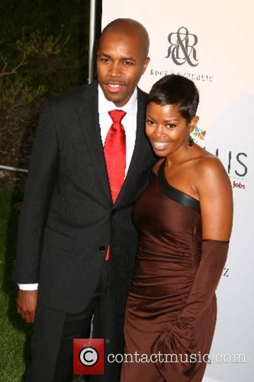 Malinda Williams and guest 2007 Chrysalis Butterfly Ball...
