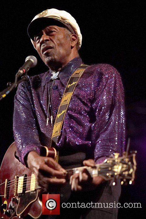 Chuck Berry performing live in concert at The...