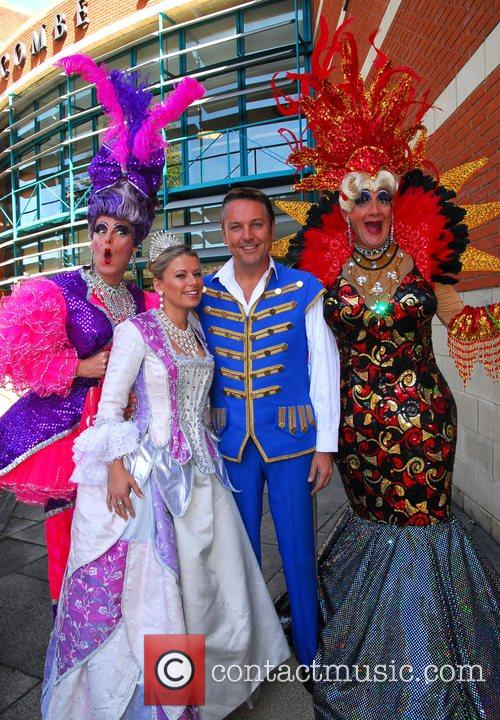 Brian Conley as 'Buttons', Michelle Potter as 'Cinderella'...