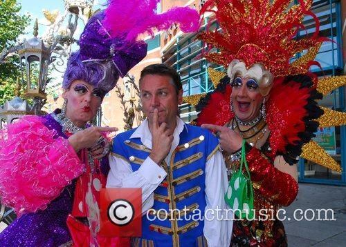 Brian Conley as 'Buttons' and Nigel Ellacott and...