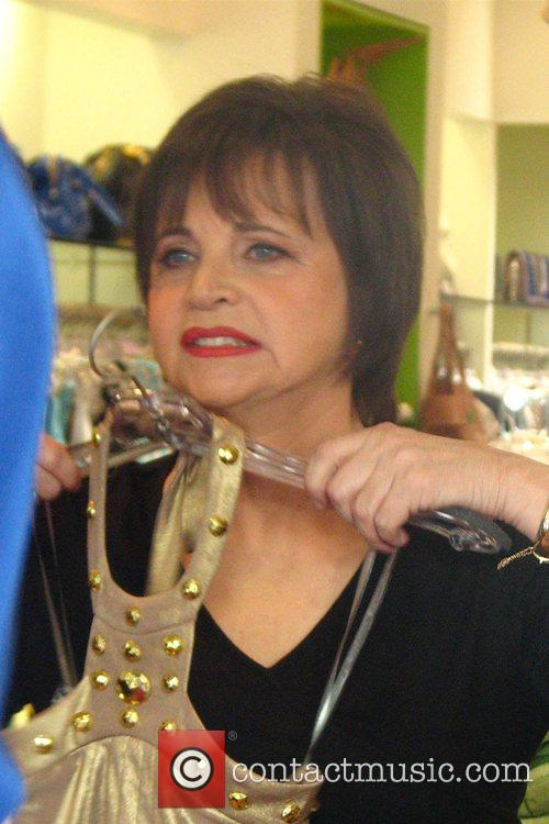 Cindy Williams filming a skit at Kitson on...