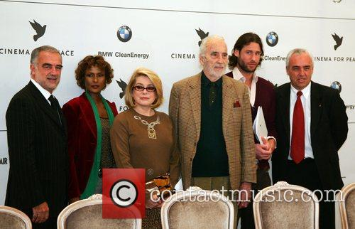 Cinema For Peace press conference at Adlon Hotel