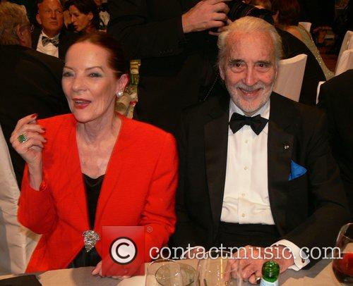 Christopher Lee, his wife Gitte 7th annual Cinema...