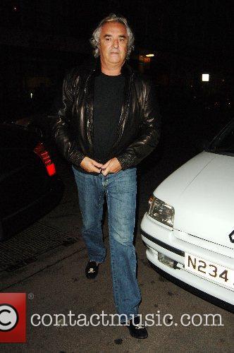 Flavio Briatore outside Cipriani restaurant London, England