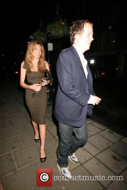 Leaving Cipriani restaurant in Mayfair
