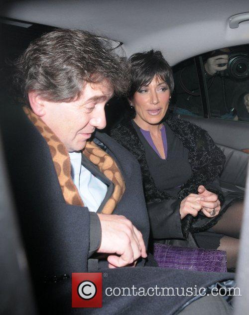Nancy Dell'Olio leaving Cipriani restaurant
