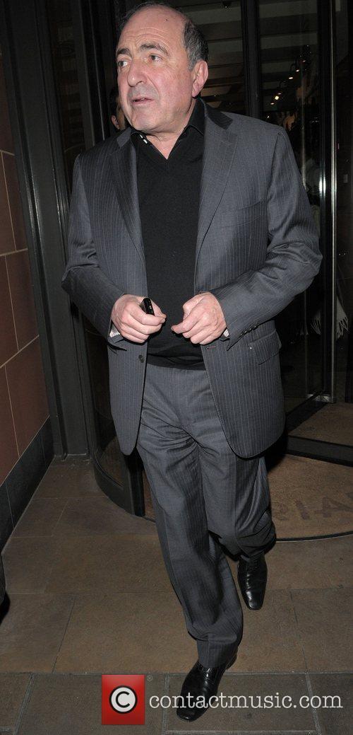 Boris Berezovsky leaving Cipriani restaurant