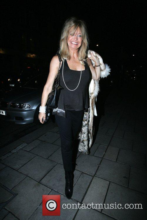 Goldie Hawn, Prince Azim the son of the Sultan of Brunei's have dinner at Cipriani. It is rumoured that he gave her a diamond necklace valued at over £100, 000 as a gift and has invited her to a lavish party he is hosting in his London home 10