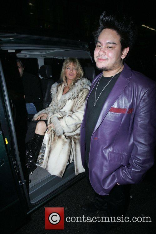 Goldie Hawn, Prince Azim the son of the Sultan of Brunei's have dinner at Cipriani. It is rumoured that he gave her a diamond necklace valued at over £100, 000 as a gift and has invited her to a lavish party he is hosting in his London home 8