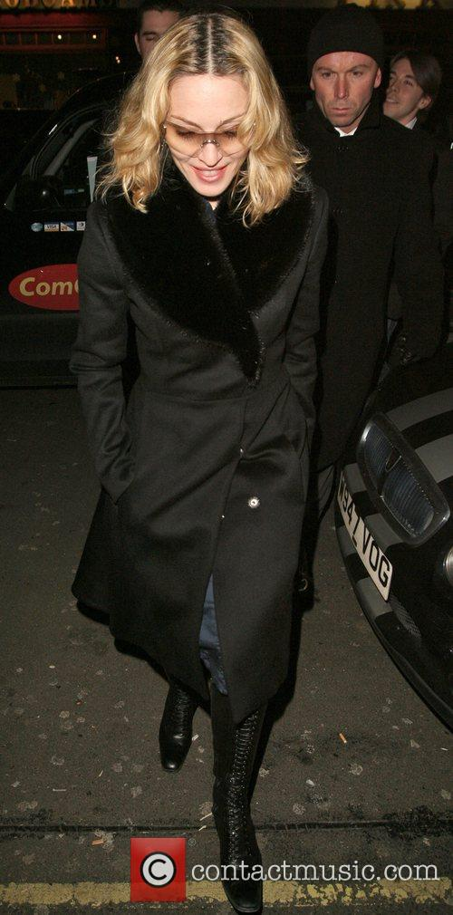 Madonna arriving at Cipriani restaurant London, England