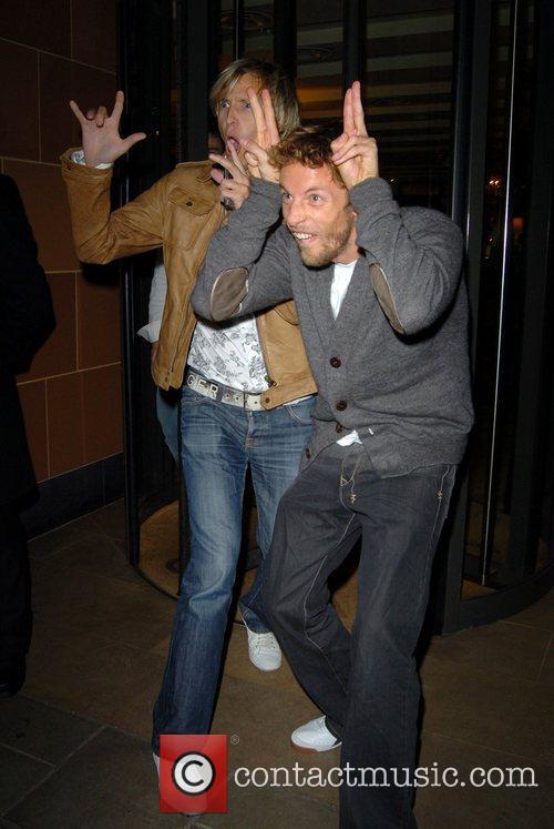 Rick Parfitt Jr and Jenson Button outside of...