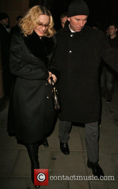 Madonna leaving Cipriani restaurant London, England