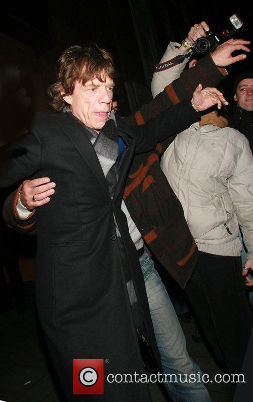 Mick Jagger dined at Cipriani restaurant before moving...