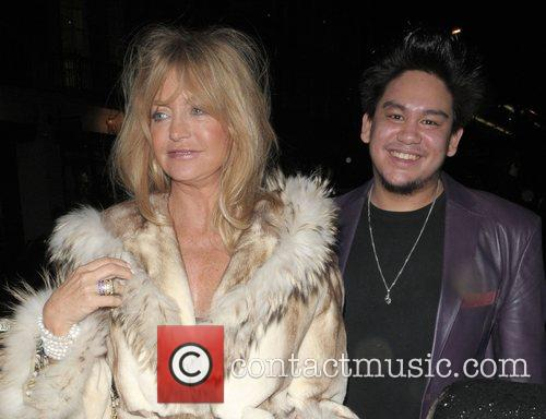 Goldie Hawn and Prince Azim Leaving Cipriani Restaurant 6