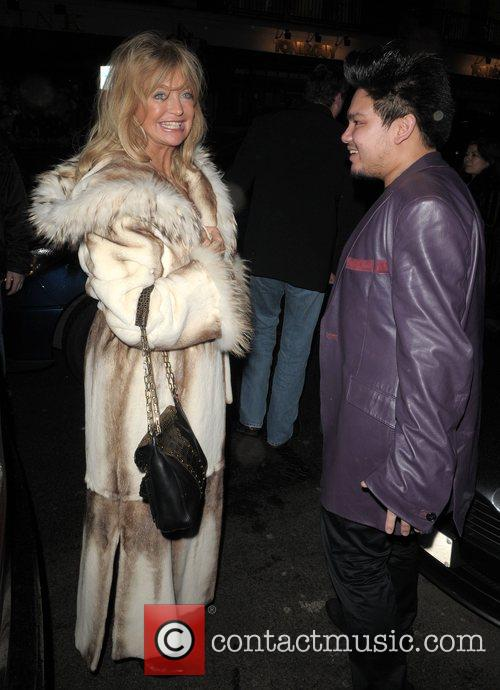 Goldie Hawn and Prince Azim Leaving Cipriani Restaurant 4
