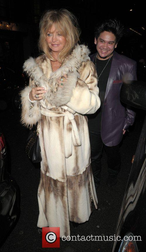 Goldie Hawn and Prince Azim Leaving Cipriani Restaurant 2