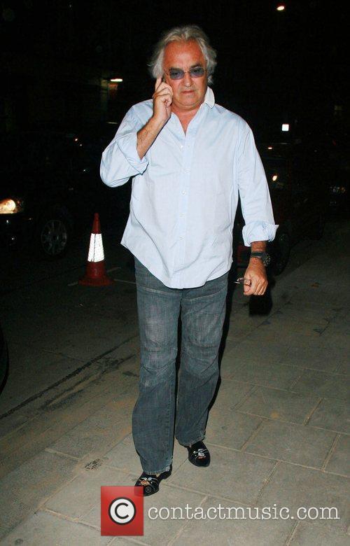 Formula One tycoon Flavio Briatore at Cipriani Restaurant