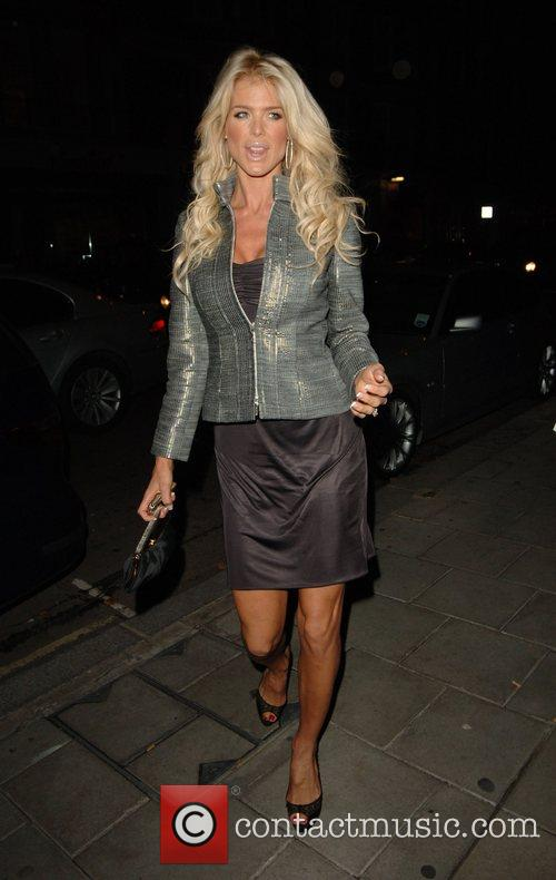 Victoria Silversted outside Cipriani restaurant London, England