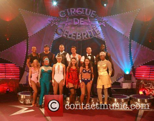 Posing for photographers at 'Cirque de Celebrite' held...