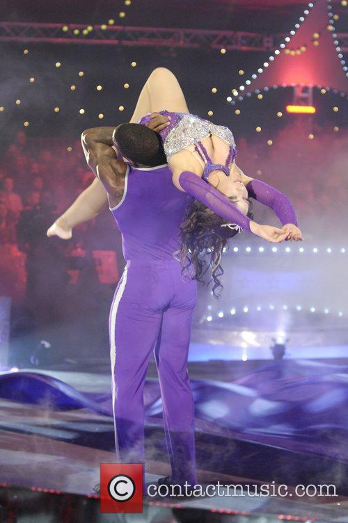 Contestants Cirque de Celebrite Final on Woolwich Common...
